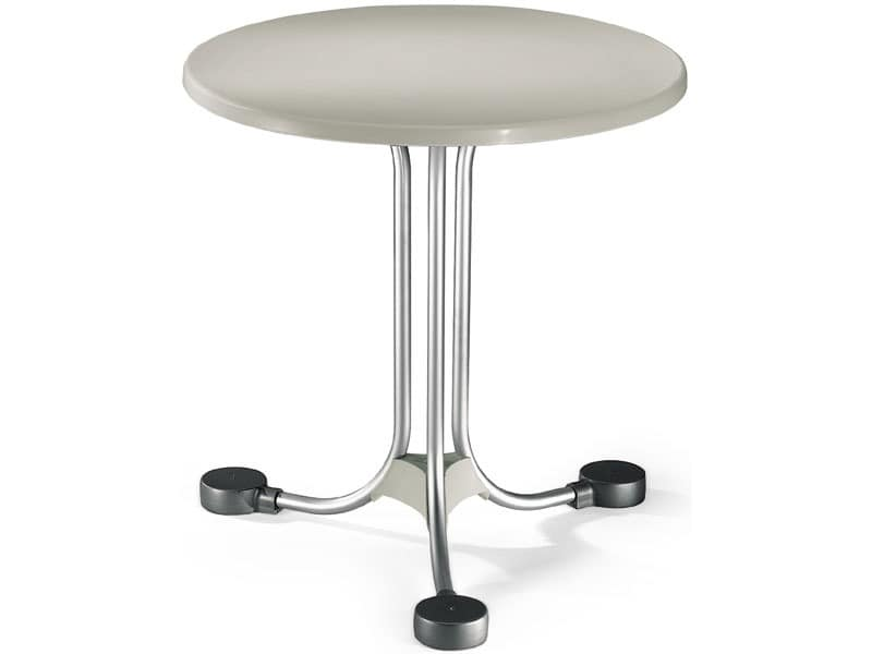 Table Ø 72 cod. 02, Round table for external balances in aluminum