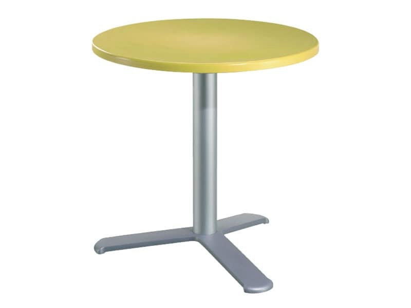 Table Ø 72 cod. 03/BG3L, Bar table in aluminum and polymer