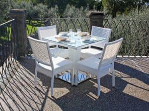 Picture of Kono white, garden table