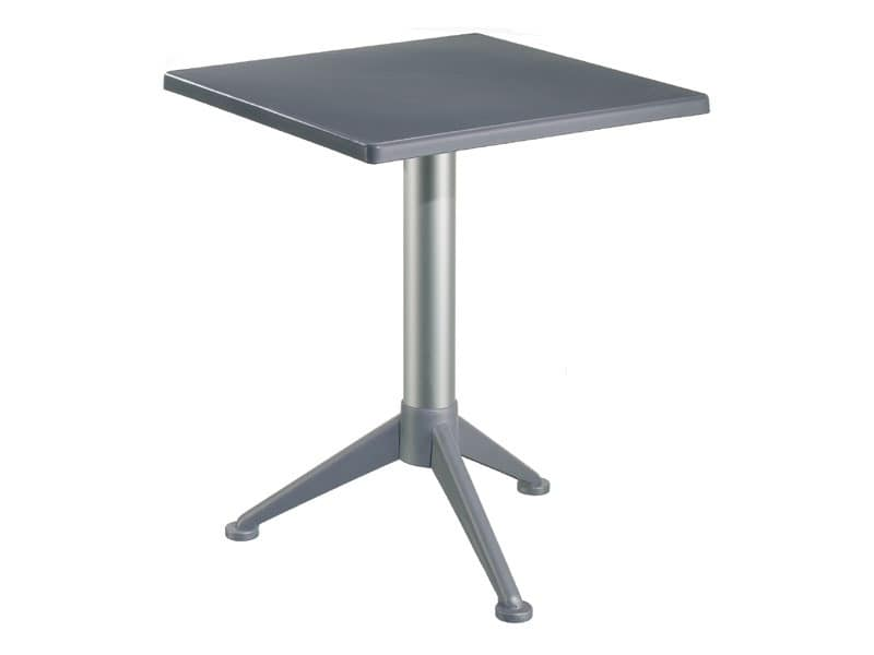 Table 60x60 cod. 20/BG3A, Bar table with square polypropylene top