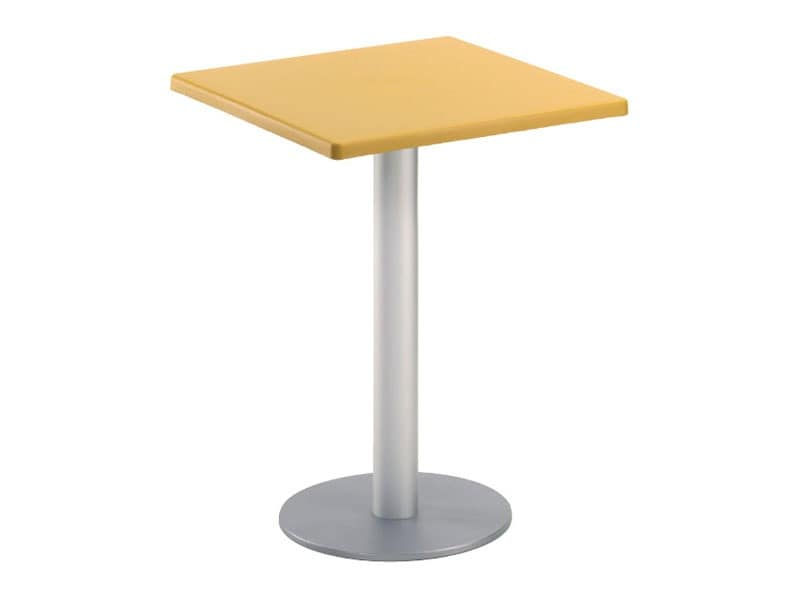 Table 60x60 cod. 20/BR, Coffee square bar table, for garden