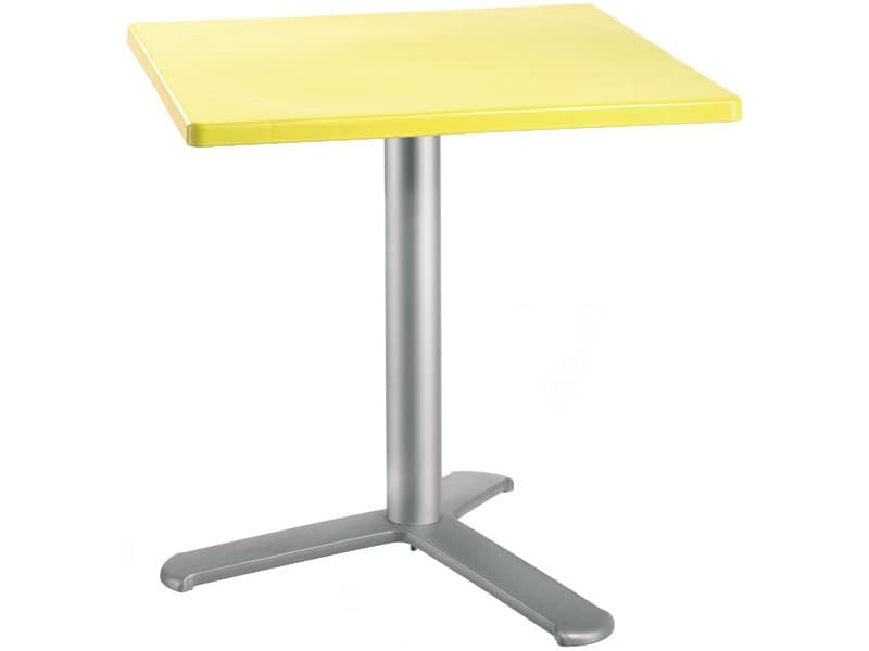 Table 72x72 cod. 06/BG3L, Square table with polypropylene top