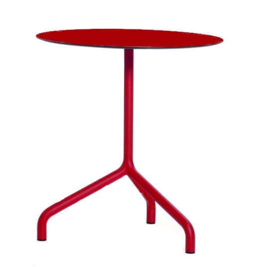 Ribalto, Tables for bars, available in different materials and heights, round and square tops