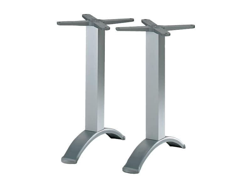 2 ped base cod. BG2J, Table base with aluminum twin-column