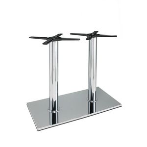 3024, Rectangular base for bar tables, in steel, with 2 columns