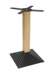 970, Cast iron base with wooden column for bar tables