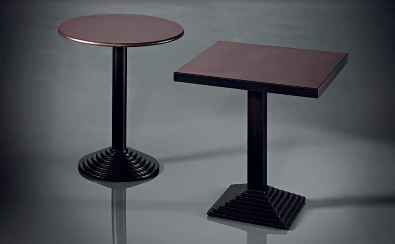 ART. 184, Table base, in painted metal, for bars