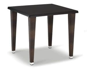 FT 2026, Base for table, braided aluminum, with 4 legs