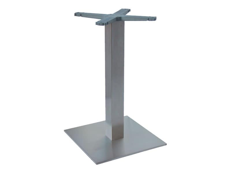 Indoor base cod. I45x45, Stainless steel table base for ice cream parlors