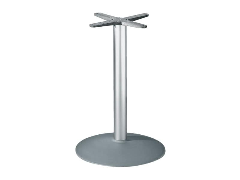 Round base h 115 cod. BTAK54, Round table base in aluminum