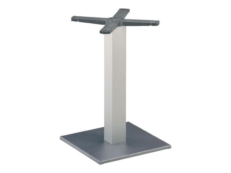 Square base cod. BQJ, Base for bar table, anodized aluminum column