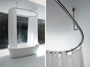 Picture of Steel ring with shower curtain, complements for bathroom