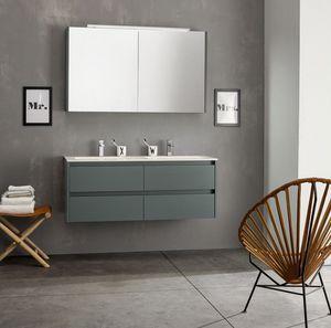 Kami comp.06, Modular bathroom composition with double sink