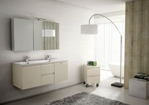 Mistral comp.05, Bathroom furniture for couples, with double washbasin