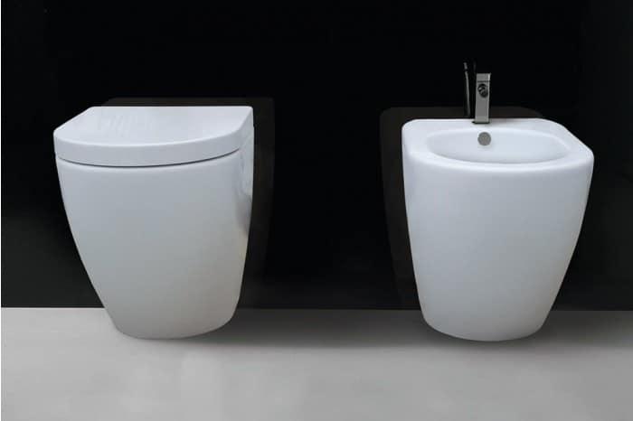 wc with bidet made of high quality ceramic idfdesign. Black Bedroom Furniture Sets. Home Design Ideas