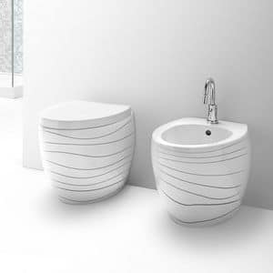 OVAL WC BIDET, Sanitary ware in ceramic, various finishing available