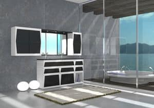 Bathroom furniture B3, Bathroom vanity with sink, for the House