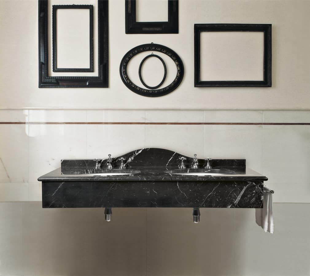 Console with two washbasins classic style idfdesign for Bathroom design cambridge