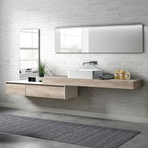 Change comp. 23, Bathroom cabinet in melamine with external washbasin