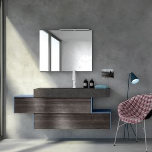 Change comp. 26, Bathroom cabinet with integrated sink in the top, for restaurants