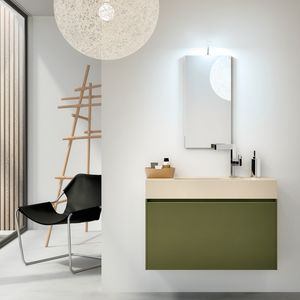 Change comp. 28, Bathroom cabinet with mono-block sink, for bars