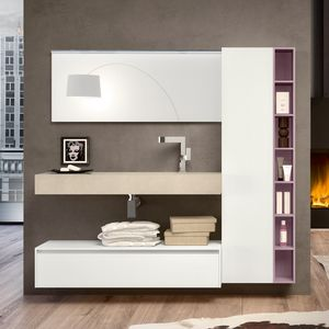 Change comp. 32, Bathroom cabinet with drawers, closet and shelves