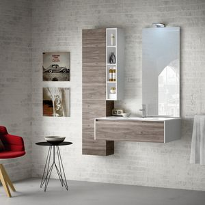 Change comp. 34, Bathroom cabinet with top in extraclear glass
