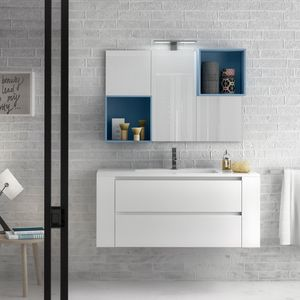 Change comp. 38, Bathroom cabinet with top in quartz resin, for bars