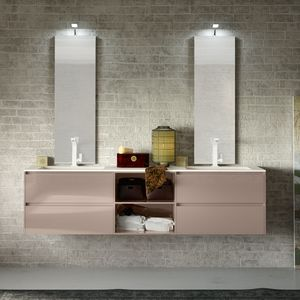 Change comp. 39, Bathroom cabinet with top eco-cement, with eco-LED lamp