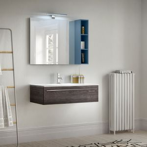 Change comp. 43, Bathroom cabinet with grain in wood effect, for hotel