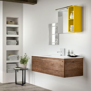 Change comp. 44, Bathroom furniture in natural style, with rough effect