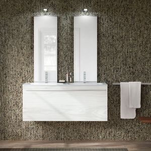Change comp. 47, Bathroom furniture with double washbasin and double mirror