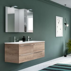 Change comp. 48, Bathroom furniture with double base, with 4 drawers