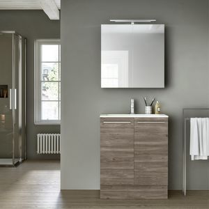 Change comp. 49, Bathroom furniture with mirror cabinet, for hotels