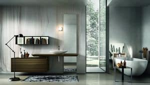 Chrono 309, Furniture for bathroom with sink and mirror