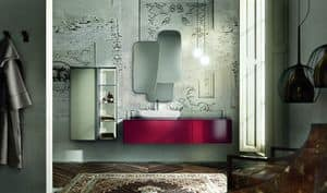 Enea 311, Composition of bathroom furniture, with ruby-colored finish