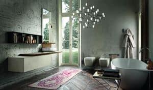 Enea 313, Bathroom furniture with stone resin finishings