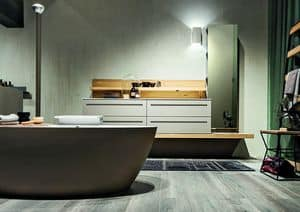Ker 318, Bathroom furniture made of ask with bathtub