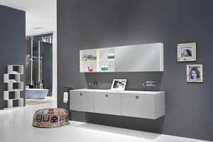 Kube 03, Elegant bathroom furniture, with modern lines