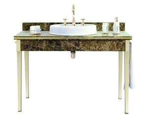 Lancaster Console 1200 x 600, Console made of marble with single washbasin