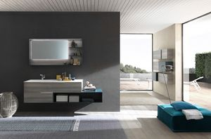 Lime � comp.46, Elegant bathroom furniture, with a minimal design