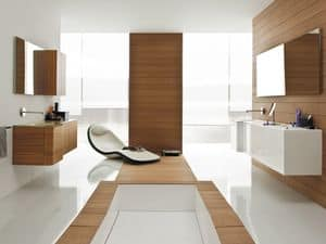 Picture of Loft composition 2, modern bathroom cabinet