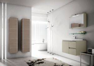 Mistral comp.07, Bathroom furniture with large hanging containers