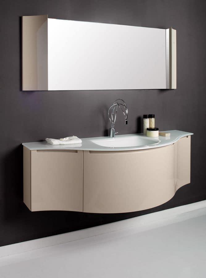 Modular comp 1 bathroom furniture with bathroom vanity for Modular bathroom