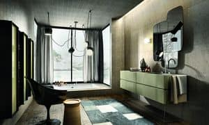 Nike 326, Furniture composition for bathroom, cappuccino-colored