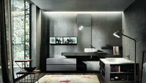 Nike 328, Furniture for bathroom, bathtub with built-in library
