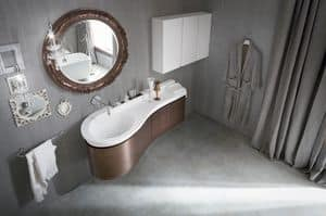 Picture of Prima washbasin vanity bronze leaf, suitable for spa
