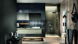 Regolo 323, Bathroom furniture, minimalist and elegant style