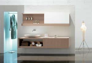 Slide 03, Elegant composition for bathroom, with bleached oak finish