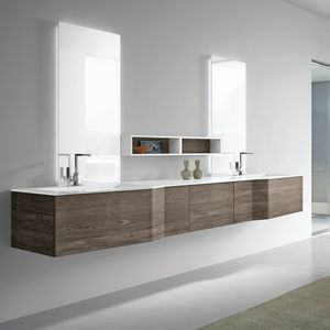 STR8 comp. 05, Wall bathroom unit with double sinks